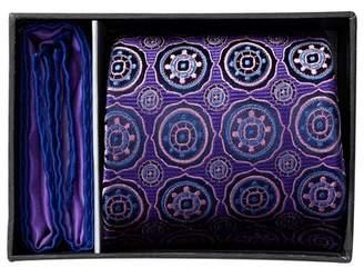 Ted Baker London Silk Ella Medallion Tie & Pocket Square Set $95 thestylecure.com