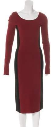 Diane von Furstenberg Two-Tone Bodycon Dress