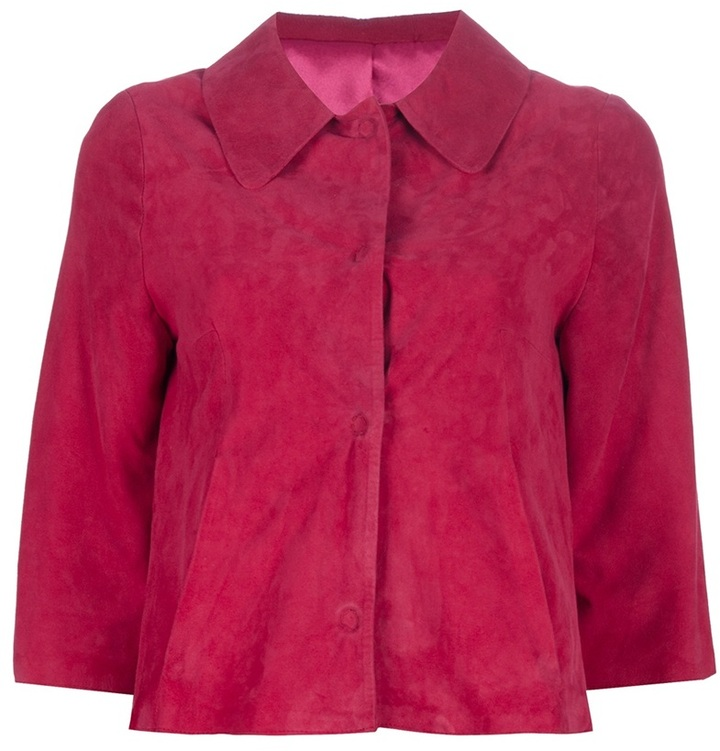 Faberge & Roches cropped suede jacket