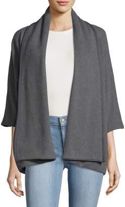 James Perse Women's Open Drape Cotton Cardigan
