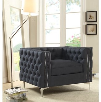 Chic Home Monet Accent Club Chair PU Leather Upholstery