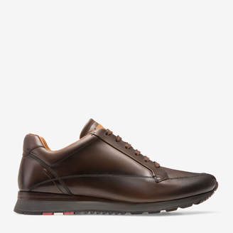 Bally Ascan Brown, Men's plain calf leather trainer in coffee