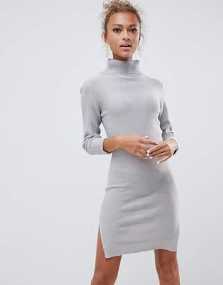 Brave Soul mandy roll neck sweater dress