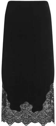 0b594bfce5 Mint Velvet Black Velvet Lace Pencil Skirt