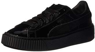 Puma Women's Basket Platform Patent Fashion Sneaker
