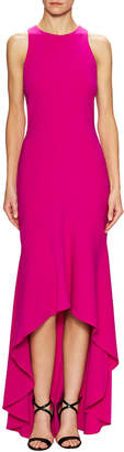 Theia Cut Out Back High Low Gown