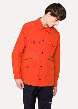 Paul Smith Men's Lightweight Orange Cotton-Blend Field Jacket