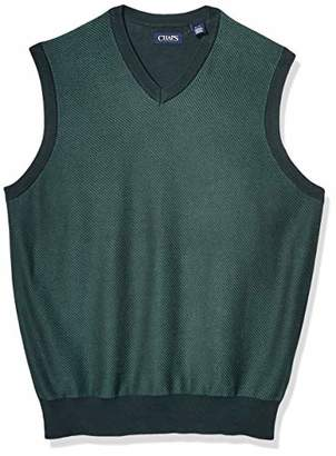 Chaps Men's Big and Tall Cotton V-Neck Sweater Vest