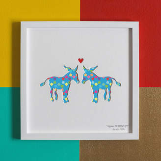 Bertie & Jack 'Donkey's Years' Donkeys Anniversary Gift Artwork