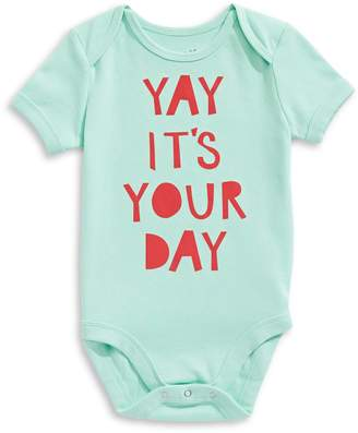 The Birdie Collection Baby Boy's Yay Its Your Day Cotton Bodysuit