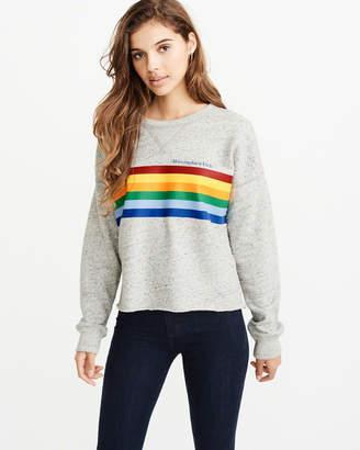 Abercrombie & Fitch Rainbow Crew Sweatshirt