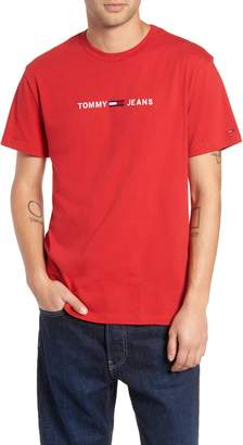 Tommy Jeans Small Text Embroidered T-Shirt