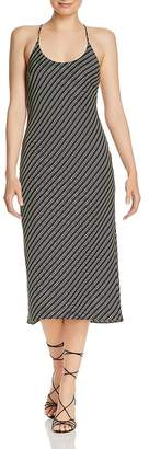 Alexander Wang Wash & Go Striped Slip Dress