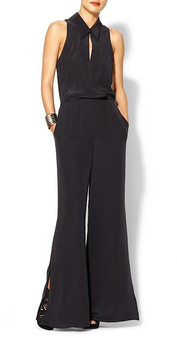 Tracy Reese Surplice Shirt Jumpsuit