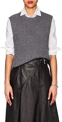 Derek Lam Women's Rib-Knit Cashmere Sleeveless Sweater - Grey