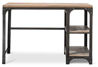 Threshold Franklin Desk with Shelves Gray - The Industrial Shop