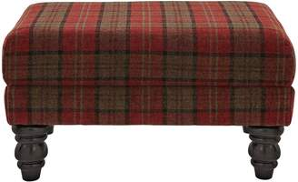 Ideal Home Orkney Tartan Patterned Accent Footstool
