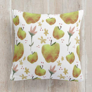 FLORA and the FRUIT 6 Self-Launch Square Pillows