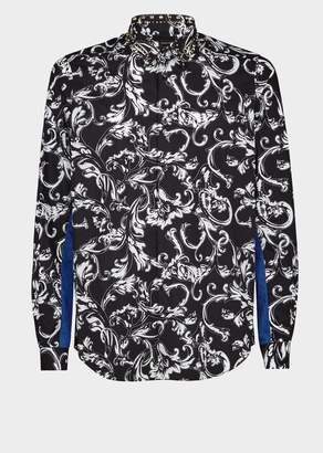 Versace Crystal Collar Acid Baroque Shirt