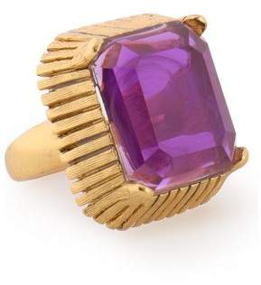 Elizabeth Cole 24-Karat Gold-Plated Stone Ring