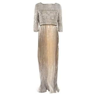 Oscar de la Renta Metallic Silk Dresses