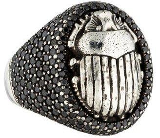 David Yurman Pavé Black Diamond Petrvs Scarab Ring $1,895 thestylecure.com