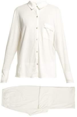 Skin - Jemima Cotton Jersey Pyjama Set - Womens - White