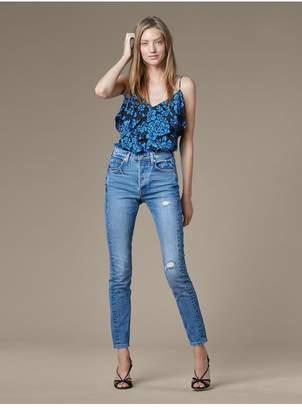 Diane von Furstenberg Levis 501 Skinny Altered Jeans