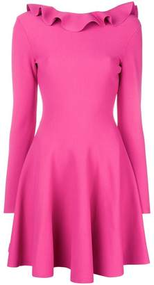 Valentino ruffle neck short dress