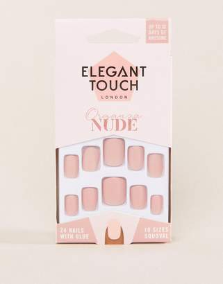 Elegant Touch Nude Collection False Nails- Organza Matte