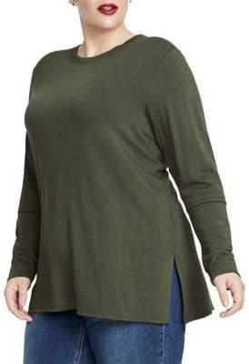 Rachel Roy Plus Imogen Long-Sleeve Top