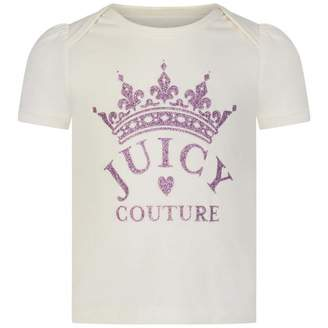 Juicy Couture Juicy CoutureBaby Girls Ivory & Pink Crown Top