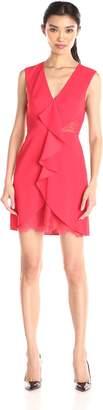 BCBGMAXAZRIA Azria Women's Koralyn Lace Inset V-Neck Dress