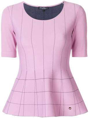 Salvatore Ferragamo fitted peplum blouse