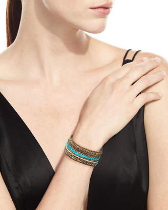 Chan Luu Beaded Multi-Row Cuff Bracelet