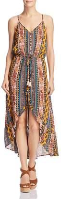 Band of Gypsies Native Stripe Tapestry-Print Midi Dress