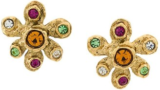 Christian Lacroix Pre-Owned flower shaped earrings