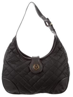 Belstaff Nylon Zip Hobo Bag