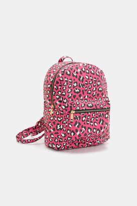 Ardene Neon Leopard Print Backpack