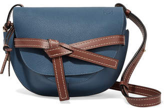 Loewe Gate Small Textured-leather Shoulder Bag - Storm blue
