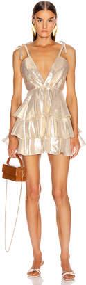 Alice McCall Astral Plane Mini Dress in Gold | FWRD