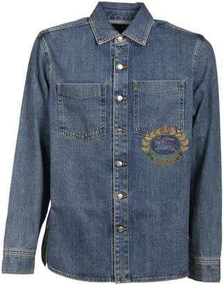 Burberry Denim Crest Logo Jacket