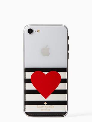 Kate Spade Heart stripe sticker pocket