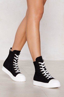 Nasty Gal Sneak Off Boot Sneaker
