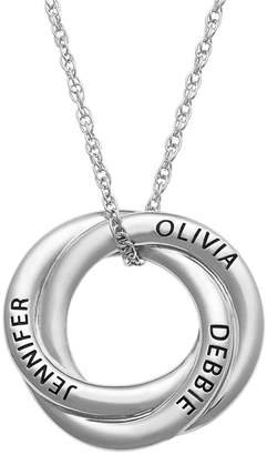 FINE JEWELRY Personalized Womens Sterling Silver Knot Pendant Necklace