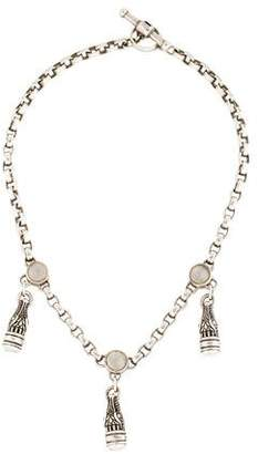 Kieselstein-Cord Moonstone Accented Alligator Chain Necklace