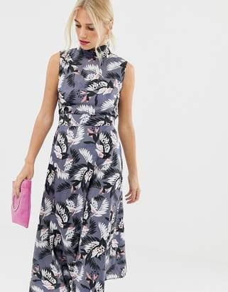 Yumi high neck floral maxi dress