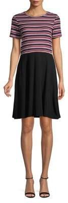 Dorothy Perkins Striped A-Line T-Shirt Dress