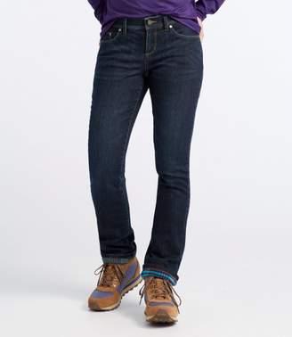 L.L. Bean L.L.Bean Performance Stretch Jeans, Lined