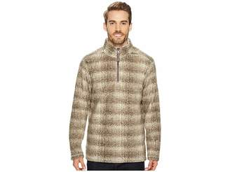 True Grit Melange Blanket Plaid 1/4 Zip Pullover Men's Clothing